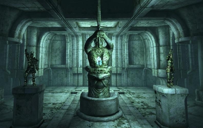 A dungeon in Oblivion