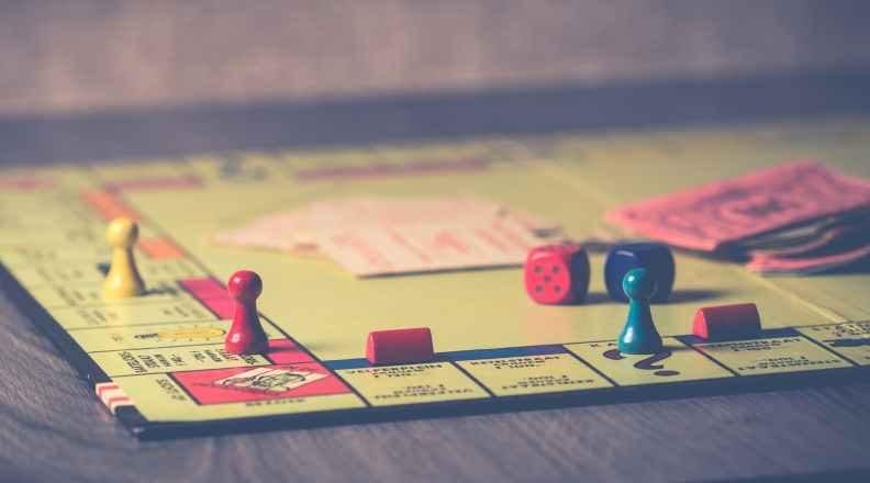 Classic board game, Monopoly.