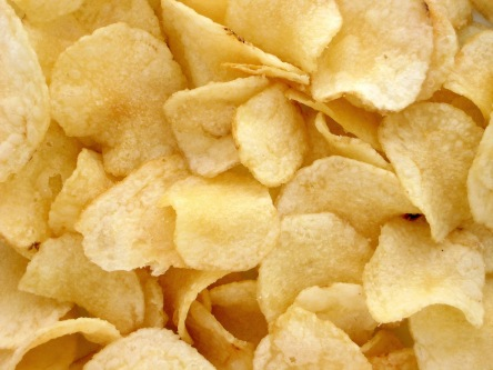 Sour Cream and Cheddar Potato Chips Photo