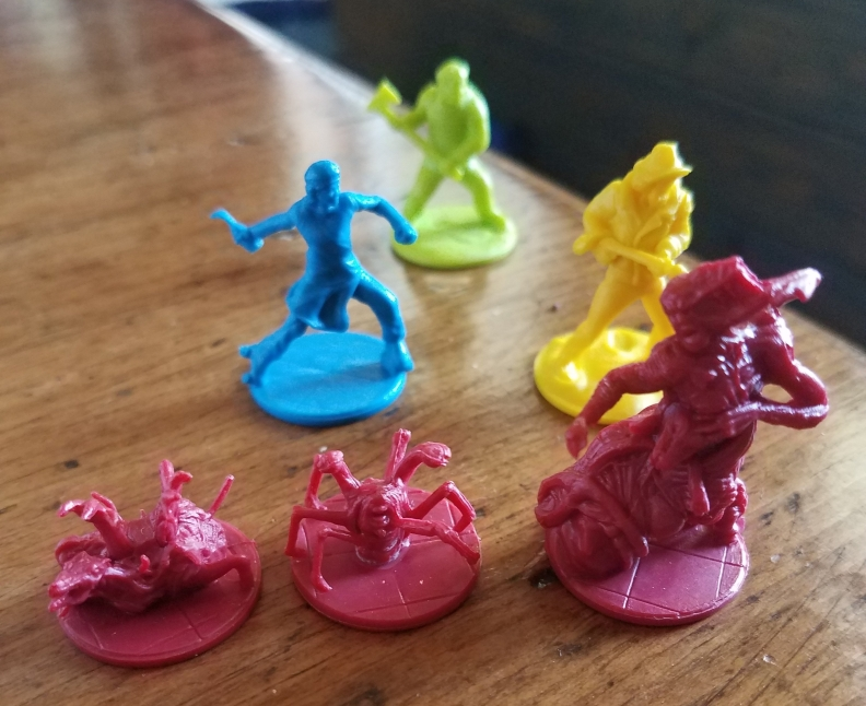 The Thing board game miniatures