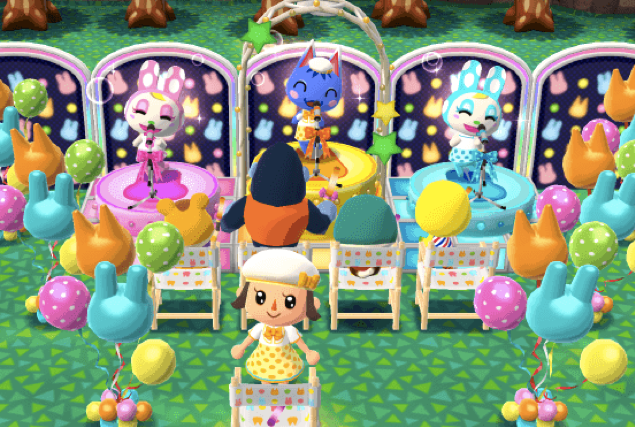 Animal Crossing: Pocket Camp party