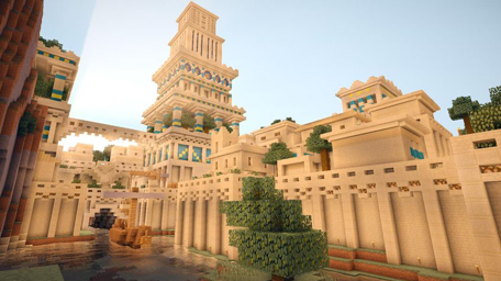 Amazing Babylonian City in Minecraft