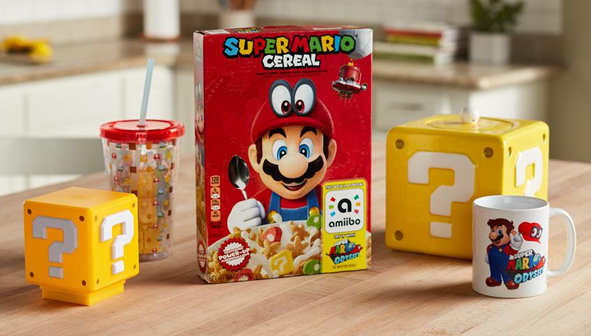 Super Mario Cereal box and mug