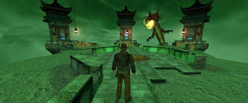 Indiana Jones and the Emperor's Tomb weird screenshot