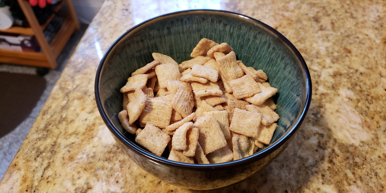 A bowl filled with Sugar Cookie Toast Crunch