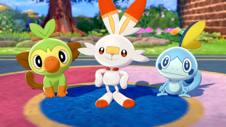 Pokemon Shield starter pokemon