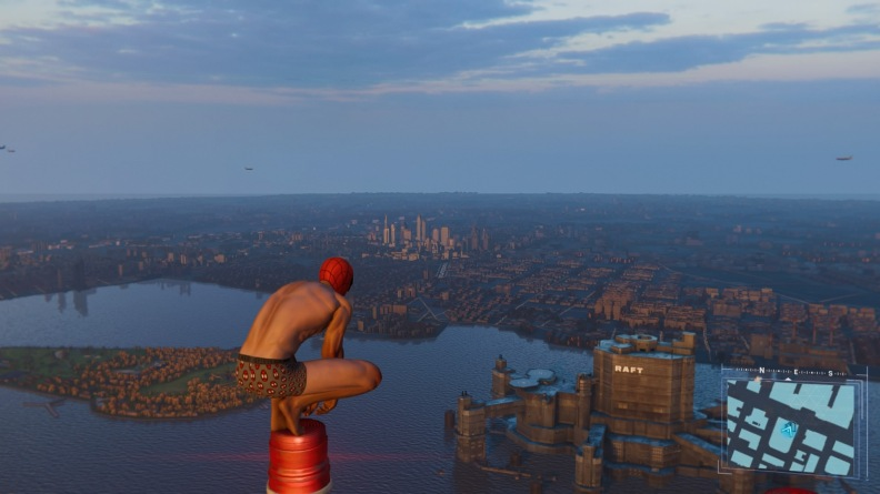 Spider-Man looking over the city