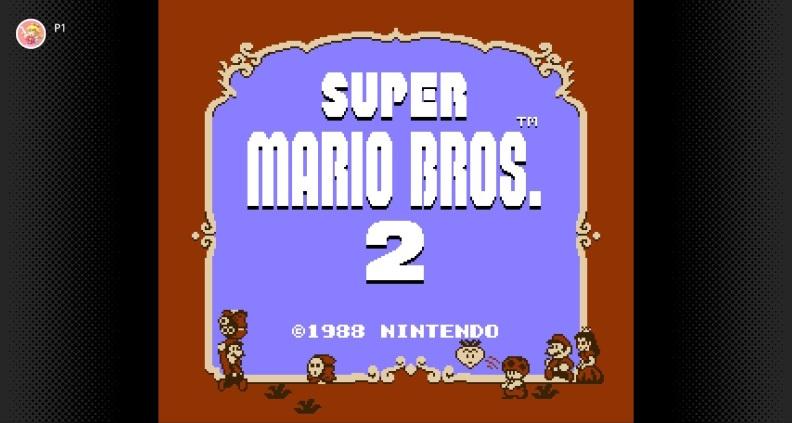 Super Mario Bros. 2 main menu