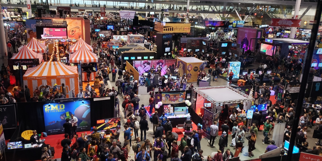 The Show Floor at PAX East 2020