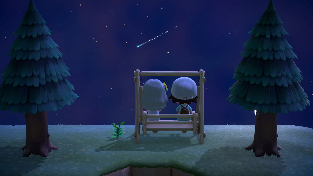 Animal Crossing New Horizons at Nighttime