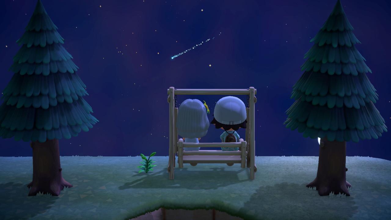Animal Crossing New Horizons at Nighttime