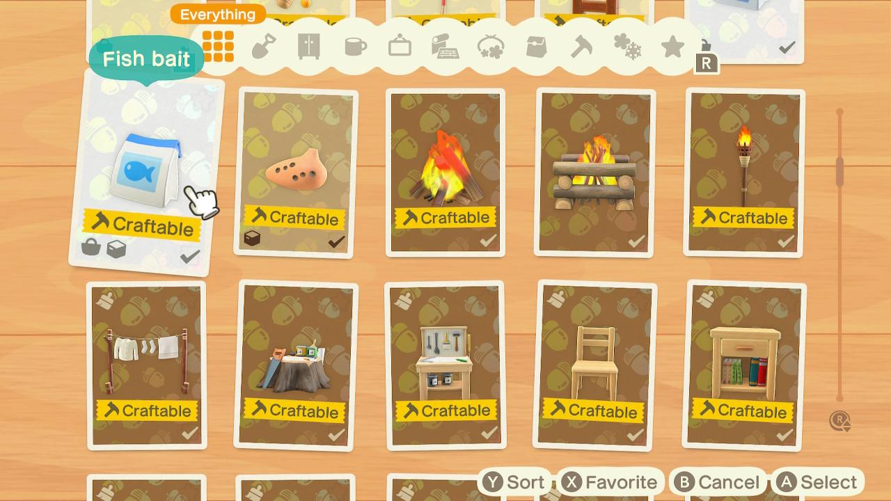 Animal Crossing New Horizons List of DIY Recipes