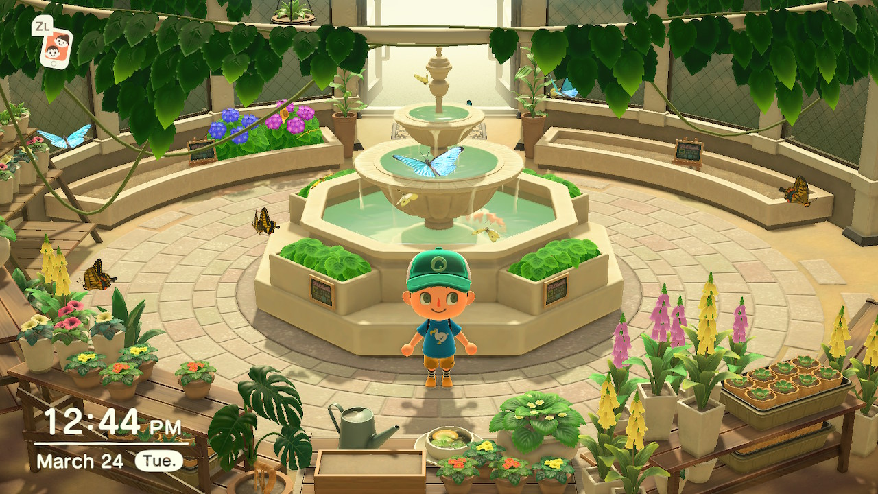 The Butterfly Exhibit in Animal Crossing New Horizon