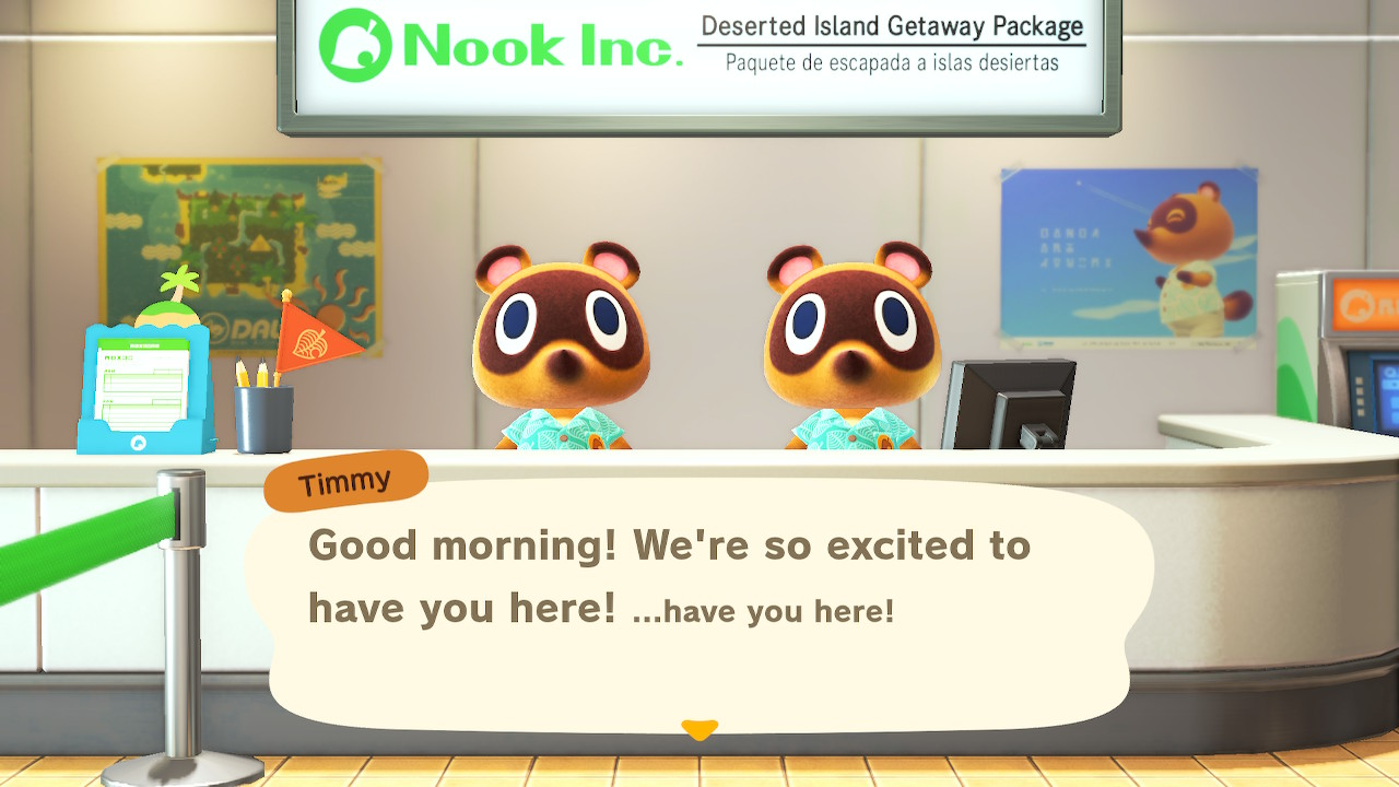 Timmy and Tommy in Animal Crossing New Horizons