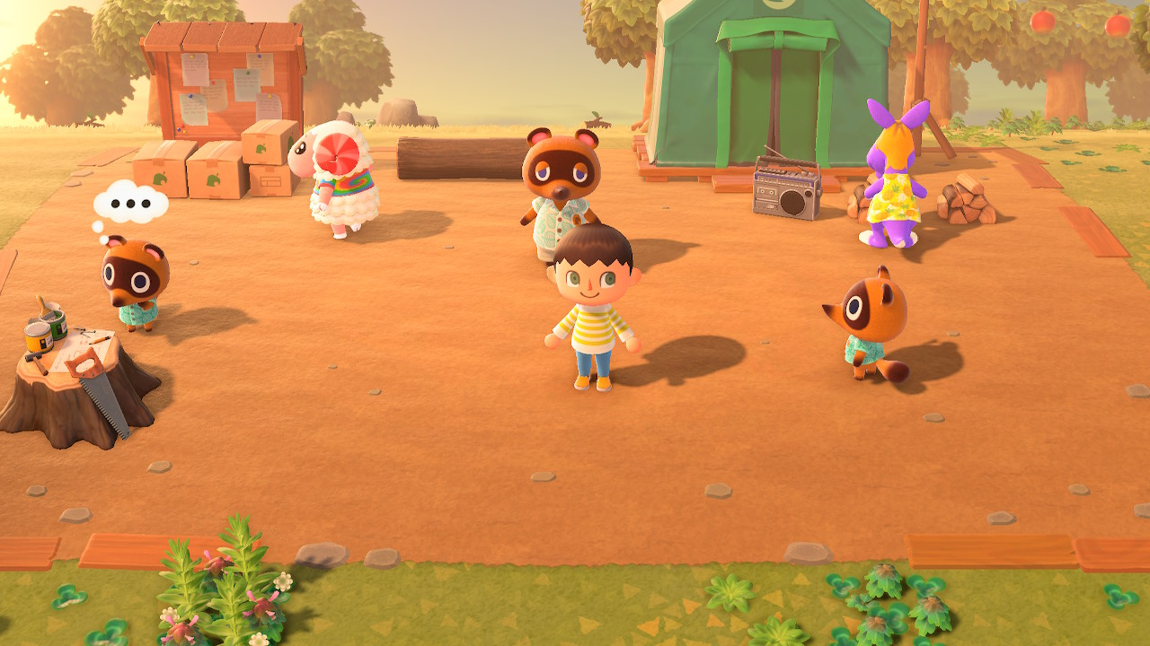 Villagers Walking Around in Animal Crossing New Horizons