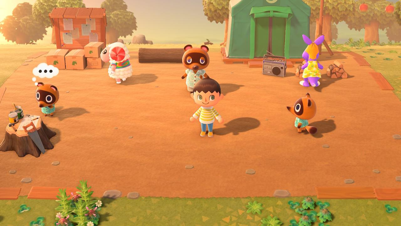 Villagers Walking Around in Animal Crossing New Horizons