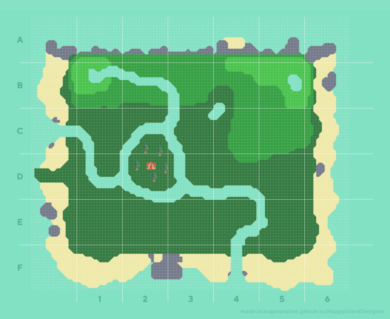 Island Within an Island Concept Made With Happy Island Designer