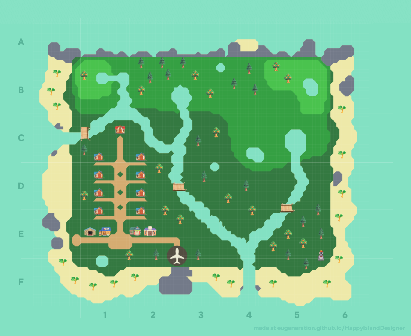 A Screenshot of Jake's Island on Happy Island Designer