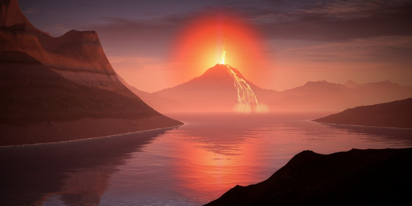 A portrait of the volcano from The Last Fire Giant of Mount Dwnendor